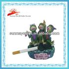Resin ashtray frog figurine