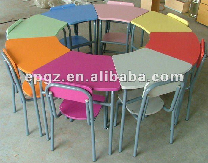 8 kid 39 s seguro escritorios sillas para la forma redonda for Mesa y sillas ninos