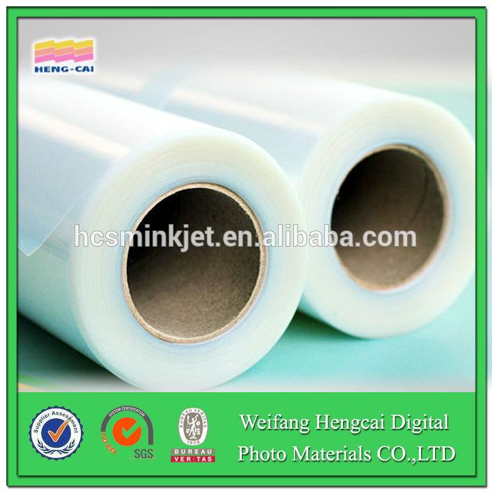 plastic film for inkjet printing