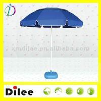 blue market beach umbrella with air vent