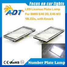lpl Xenon White Error Free 18-SMD White LED License Plate Lights For BMm E46 3-Series Sedan Pre-LCI