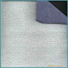 Polyester knit fabric bonded polar fleece material
