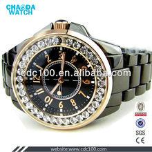 Best seller gem stone 2013 fake tungstun steel watches fashion