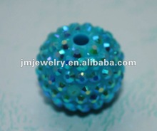 Blue shamballa crystal disco beads on retail