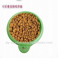 2014 Food grade silicone pet bowl, dog food bowl,silicone feeding bowl for dog