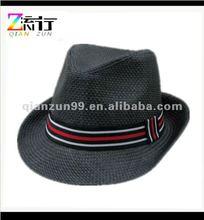 black straw woven mens black fedora hats