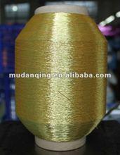 Pure Gold Metallic Lurex Yarn, metalic yarn MX/ST/Ms/MH-type yarn12mic/23/25mic