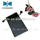 black organza drawstring bag with tassel