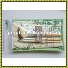cosmetic brush set bamboo