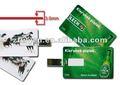 De alta velocidad de la tarjeta de crédito usb/8gb palstic usb flash driver/usb tarjeta de memoria