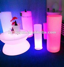 led illuminated pillar / party led pillar furniture / lighting pillar furniture