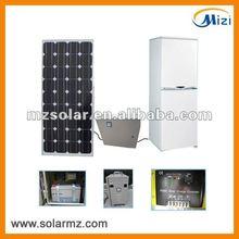 2012 Newest design DC 12V 172L solar power refrigerator freezer system with CE,CB
