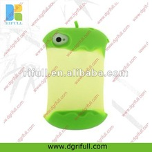 Apple shape silicone case for iphone