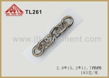 Fashion metal link chain with s hook