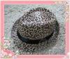 2014 fashion satin leopard top hat