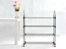 0555-4 Tiers full stainless steel shoe rack