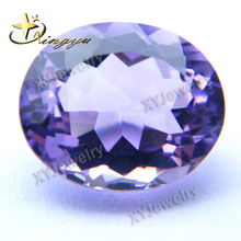 Charming Oval Cut Brazil Purple Amethyst Carving Stones