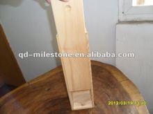 Push-pull elegant wood wine box with handle,wood wine box sliding lid