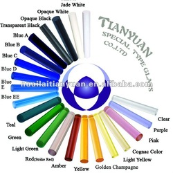 Colored Borosilicate Glass Solid Rod