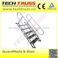 aluminum portable stage stairs the height is adjustable
