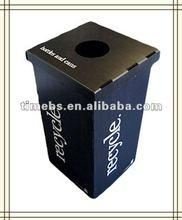 Black corrugated plastic recycle bin/pp corrugated bin/coroplast waste bin