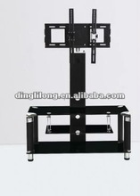 modern metel black tempered glass and high quality tv stand