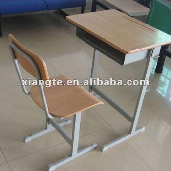 Manufacturer sale!!!Durable metal leg wood top school desk