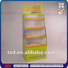 TSD-C016 four layer shelf pen cardboard display stand/cardboard pop displays for pen/stationery pop cardboard display for sale