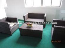 novo design de lazer ao ar livre do sofá do rattan conjunto terraço para o lobby do hotel