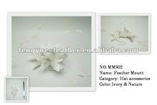 Factory wholesale cheap party dance wedding millinery hair accessories feather tree mount headpiece flower headwear fascinator