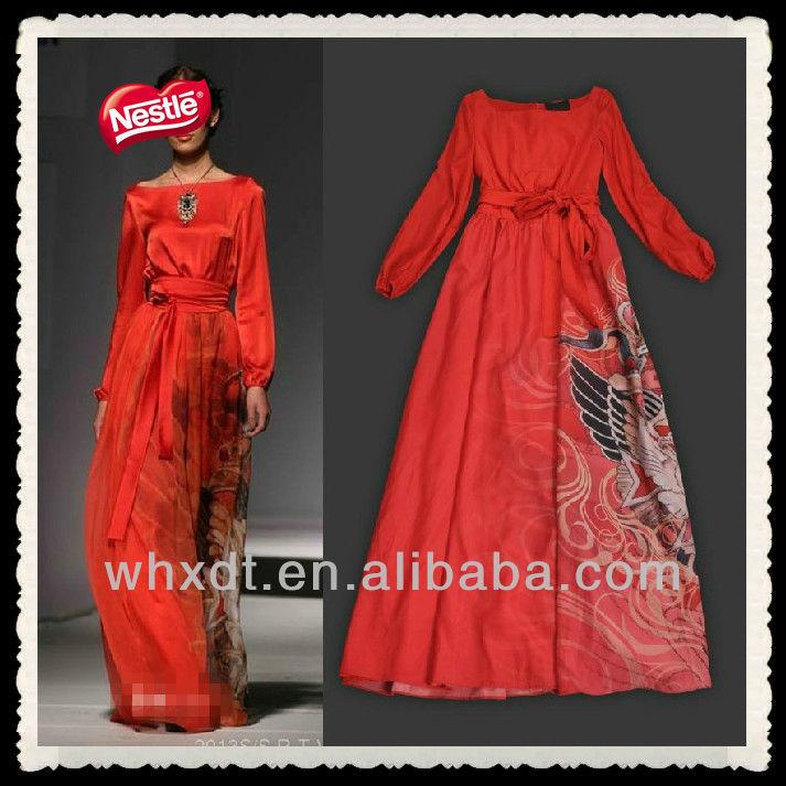 de celebridades vestido de noche rojo 2013 más reciente
