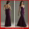 OC-133 Strapless fabulous fit stretch jersey evening dresses from lebanon mermaid dark purple dresses
