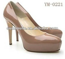 2014 new style ladies high heel shoes with platform / TPR sole