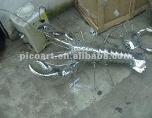 2012 stainless steel animal sculpture,metal animal statue