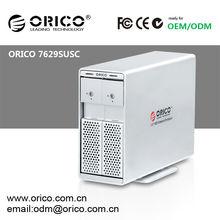 """ORICO 7629SUSC 2 bay 3.5 """" SATA HDD Enclosure With eSATA + Hard drive OTB clone"""