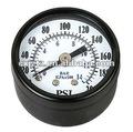 Estándar medidor de presión con negro caja de acero y bisel