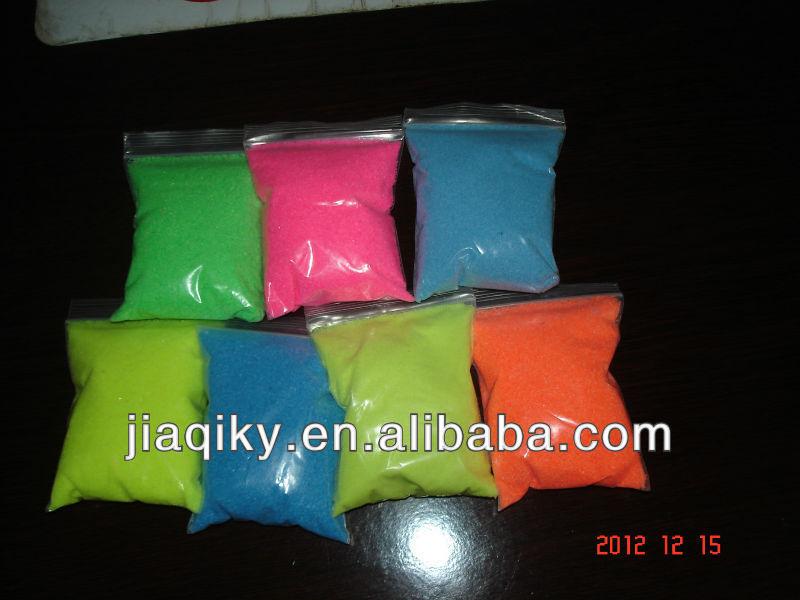 Magia sabbia colorata per i bambini/lago colorato decration sabbia sabbia colorata