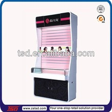 TSD-W326 retial store hair band/ boutique wooden cosmetic dispaly stand/ cosmetic display showcase for store