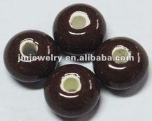 Brown ceramic beads bulk for wholesale 2012