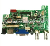 "LCD TV CONTROL BOARD""is suitable for the worldwide analog TV System PAL / NTSC / SECAM ,support USB Media play/LED"