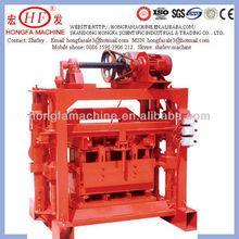 QTJ4-40B2 small scale cement sand coal ash brick making machinery