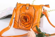 SKB018 2012 fashion double layers shiny color cell phone flower bag