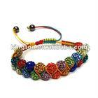 2014 NEWEST! Fashion Disco ball shamballa beaded bracelets