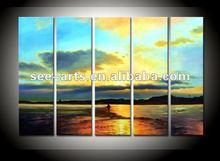 Island beach Wall Modern Sea landscape oil paintings