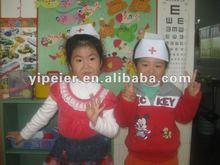 guangdong cruz vermelha moda baratos design de poliéster crianças chapéu enfermeira atacadista