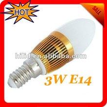 LED bulb 2012 New !!! Free shipping--3W E14 LED Candle Bulb Light 85-265V White | Warm White --2 Year Warranty 10pcs/Lot