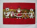 Rojo de Santa frustrado de la tarjeta de felicitación