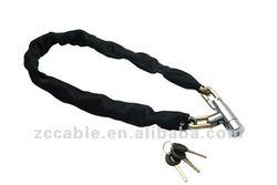 SL778 SL779 SL780 NEW NURBO nylon chain covers motorcycle lock,heavy duty motorbike/bike chain padlock lock