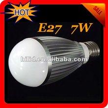 LED bulb 700-770Lumens AC85V-265V High Power E27 7W LED Lamp, LED Bulb,LED Light,