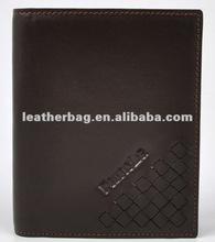 2015 new design brown color 2 fold teen wallet leather men